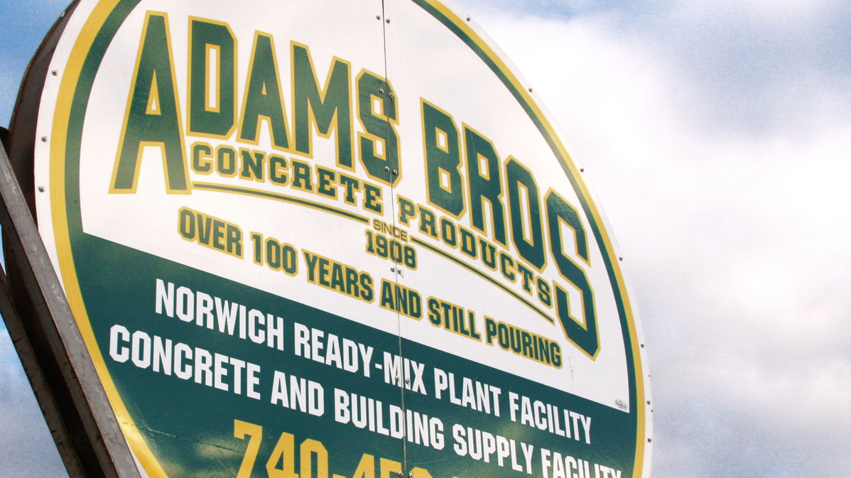 Adams Bros Materials Division Norwich Ohio Sand Gravel Mulch Rock Dirt Tools Supplies