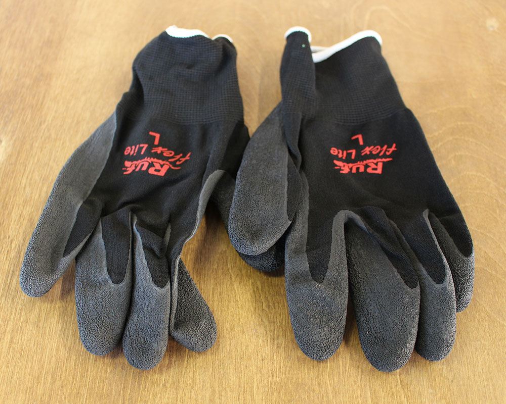 Rubber Nylon Gloves